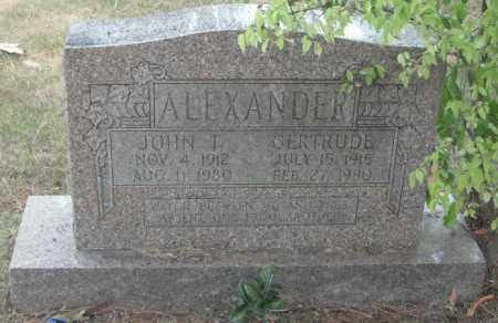 ALEXANDER, JOHN THOMAS - Madison County, Alabama | JOHN THOMAS ALEXANDER - Alabama Gravestone Photos