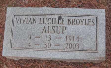BROYLES ALSUP, VIVIAN LUCILLE - Madison County, Alabama | VIVIAN LUCILLE BROYLES ALSUP - Alabama Gravestone Photos