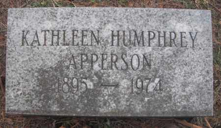 HUMPHREY APPERSON, KATHLEEN - Madison County, Alabama   KATHLEEN HUMPHREY APPERSON - Alabama Gravestone Photos