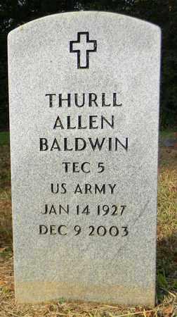 BALDWIN (VETERAN), THURLL ALLEN - Madison County, Alabama   THURLL ALLEN BALDWIN (VETERAN) - Alabama Gravestone Photos
