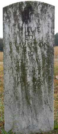 BRAZELTON (VETERAN WWII), WILLIE ED - Madison County, Alabama | WILLIE ED BRAZELTON (VETERAN WWII) - Alabama Gravestone Photos
