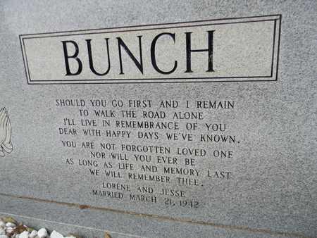 BUNCH (BACK), JESSE LEE - Madison County, Alabama | JESSE LEE BUNCH (BACK) - Alabama Gravestone Photos