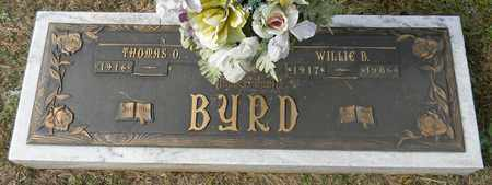 BYRD (FLAT BRONZE), WILLIE B - Madison County, Alabama | WILLIE B BYRD (FLAT BRONZE) - Alabama Gravestone Photos