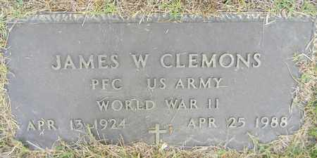 CLEMONS (VETERAN WWII), JAMES W - Madison County, Alabama | JAMES W CLEMONS (VETERAN WWII) - Alabama Gravestone Photos