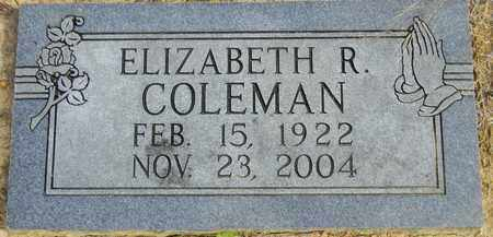 COLEMAN, ELIZABETH R - Madison County, Alabama | ELIZABETH R COLEMAN - Alabama Gravestone Photos