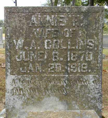 COLLINS, ANNIE F - Madison County, Alabama | ANNIE F COLLINS - Alabama Gravestone Photos