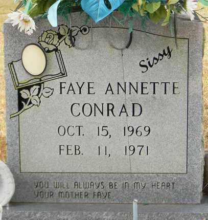 CONRAD, FAYE ANNETTE - Madison County, Alabama | FAYE ANNETTE CONRAD - Alabama Gravestone Photos