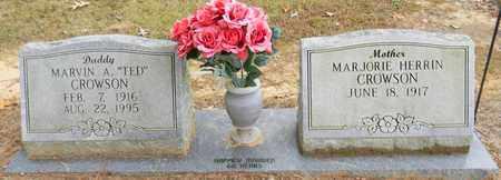CROWSON, MARVIN A - Madison County, Alabama | MARVIN A CROWSON - Alabama Gravestone Photos