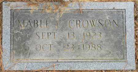 CROWSON, MABLE - Madison County, Alabama | MABLE CROWSON - Alabama Gravestone Photos
