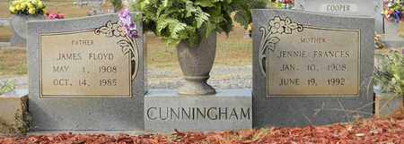 CUNNINGHAM, JENNIE FRANCES - Madison County, Alabama | JENNIE FRANCES CUNNINGHAM - Alabama Gravestone Photos