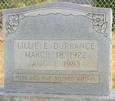 DURRANCE, LILLIE E - Madison County, Alabama | LILLIE E DURRANCE - Alabama Gravestone Photos