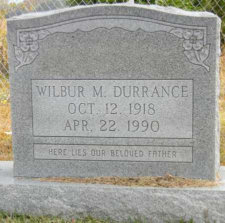 DURRANCE, WILBUR M - Madison County, Alabama | WILBUR M DURRANCE - Alabama Gravestone Photos