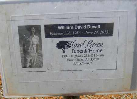 DUVALL, WILLIAM DAVID - Madison County, Alabama | WILLIAM DAVID DUVALL - Alabama Gravestone Photos