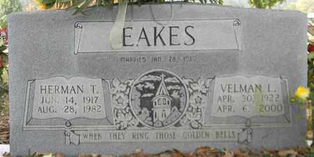 EAKES, VELMAN L - Madison County, Alabama | VELMAN L EAKES - Alabama Gravestone Photos