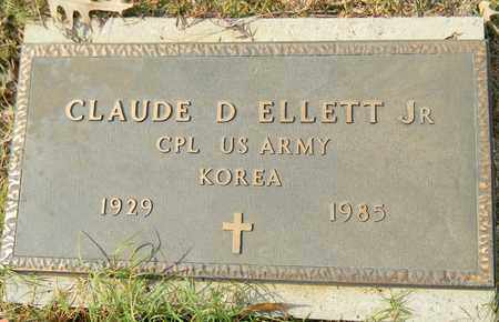 ELLETT, JR (VETERAN KOR), CLAUDE D - Madison County, Alabama | CLAUDE D ELLETT, JR (VETERAN KOR) - Alabama Gravestone Photos