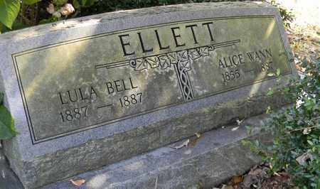 ELLETT, LULA BELL - Madison County, Alabama   LULA BELL ELLETT - Alabama Gravestone Photos