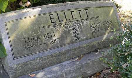 ELLETT, ALICE WANN - Madison County, Alabama | ALICE WANN ELLETT - Alabama Gravestone Photos