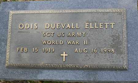 ELLETT (VETERAN WWII), ODIS DUEVALL - Madison County, Alabama | ODIS DUEVALL ELLETT (VETERAN WWII) - Alabama Gravestone Photos