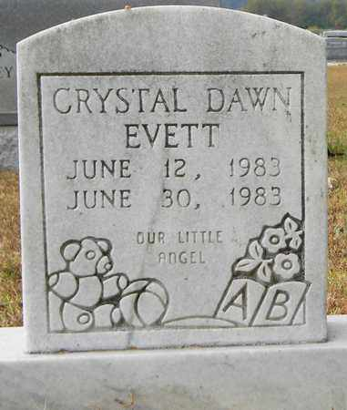EVETT, CRYSTAL DAWN - Madison County, Alabama | CRYSTAL DAWN EVETT - Alabama Gravestone Photos