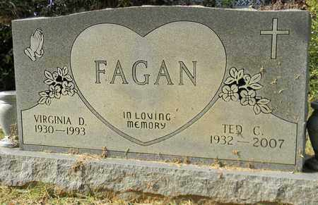 FAGAN, VIRGINIA D - Madison County, Alabama | VIRGINIA D FAGAN - Alabama Gravestone Photos