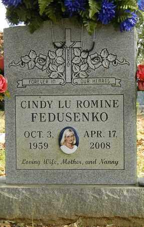 ROMINE FEDUSENKO, CINDY LU - Madison County, Alabama | CINDY LU ROMINE FEDUSENKO - Alabama Gravestone Photos