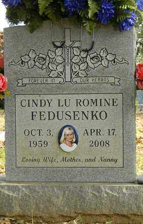 ROMINE FEDUSENKO, CINDY LU - Madison County, Alabama | CINDY LU ROMINE FEDUSENKO - Alabama Gravestone Photos