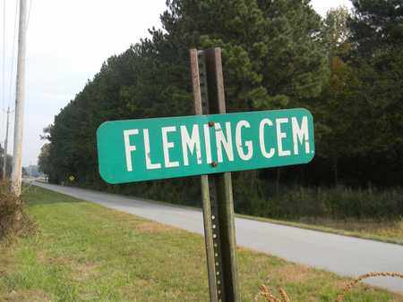 *FLEMING CEMETERY SIGN,  - Madison County, Alabama |  *FLEMING CEMETERY SIGN - Alabama Gravestone Photos