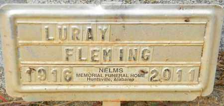 FLEMING, LURAY - Madison County, Alabama   LURAY FLEMING - Alabama Gravestone Photos