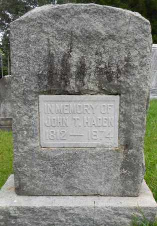 HADEN, JOHN H - Madison County, Alabama | JOHN H HADEN - Alabama Gravestone Photos