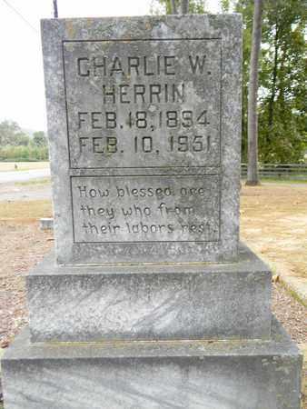 HERRIN, CHARLIE W - Madison County, Alabama   CHARLIE W HERRIN - Alabama Gravestone Photos
