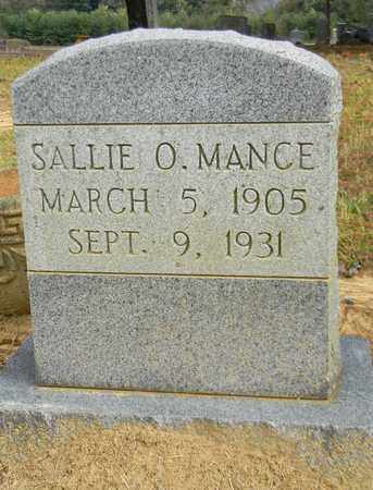 MANCE, SALLIE O - Madison County, Alabama | SALLIE O MANCE - Alabama Gravestone Photos
