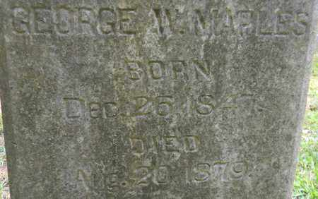 MAPLES (CLOSEUP), GEORGE W - Madison County, Alabama | GEORGE W MAPLES (CLOSEUP) - Alabama Gravestone Photos