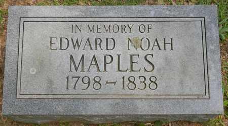 MAPLES, EDWARD NOAH - Madison County, Alabama | EDWARD NOAH MAPLES - Alabama Gravestone Photos