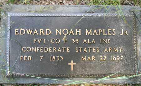 MAPLES, JR (VETERAN CSA), EDWARD NOAH - Madison County, Alabama   EDWARD NOAH MAPLES, JR (VETERAN CSA) - Alabama Gravestone Photos