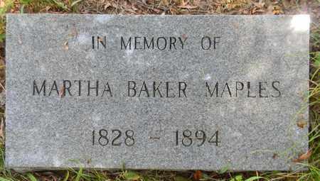 BAKER MAPLES, MARTHA - Madison County, Alabama | MARTHA BAKER MAPLES - Alabama Gravestone Photos