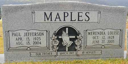 MAPLES, PAUL JEFFERSON - Madison County, Alabama | PAUL JEFFERSON MAPLES - Alabama Gravestone Photos