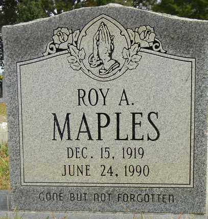 MAPLES, ROY A - Madison County, Alabama | ROY A MAPLES - Alabama Gravestone Photos