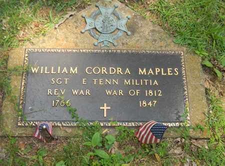 MAPLES (VETERAN 2 WARS), WILLIAM CORDRA - Madison County, Alabama | WILLIAM CORDRA MAPLES (VETERAN 2 WARS) - Alabama Gravestone Photos