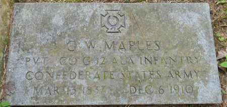 MAPLES (VETERAN CSA), G W - Madison County, Alabama | G W MAPLES (VETERAN CSA) - Alabama Gravestone Photos