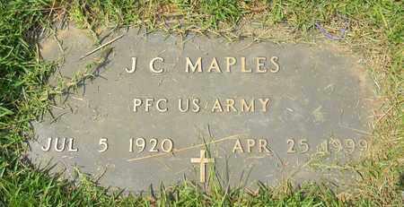 MAPLES (VETERAN), J C - Madison County, Alabama   J C MAPLES (VETERAN) - Alabama Gravestone Photos