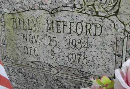 MEFFORD (CLOSEUP), BILLY - Madison County, Alabama | BILLY MEFFORD (CLOSEUP) - Alabama Gravestone Photos