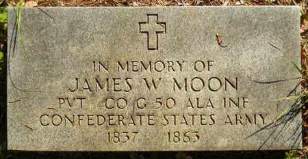 MOON (VERTERAN CSA), JAMES W - Madison County, Alabama | JAMES W MOON (VERTERAN CSA) - Alabama Gravestone Photos