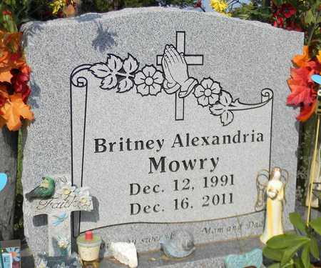 MOWRY, BRITNEY ALEXANDRIA - Madison County, Alabama   BRITNEY ALEXANDRIA MOWRY - Alabama Gravestone Photos