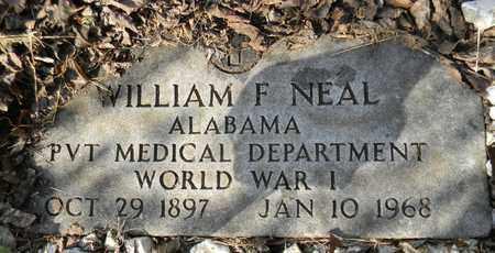 NEAL (VETERAN WWI), WILLIAM F - Madison County, Alabama | WILLIAM F NEAL (VETERAN WWI) - Alabama Gravestone Photos