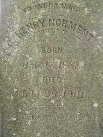 NORMENT (CLOSEUP), C HENRY - Madison County, Alabama   C HENRY NORMENT (CLOSEUP) - Alabama Gravestone Photos