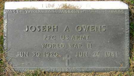 OWENS (VETERAN WWII), JOSEPH A - Madison County, Alabama   JOSEPH A OWENS (VETERAN WWII) - Alabama Gravestone Photos