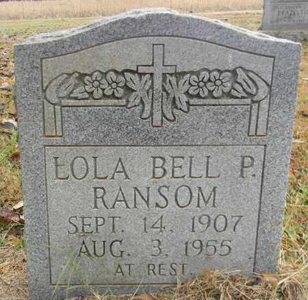 RANSOM, LOLA BELL P - Madison County, Alabama | LOLA BELL P RANSOM - Alabama Gravestone Photos