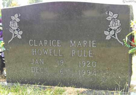 HOWELL RULE, CLARICE MARIE - Madison County, Alabama | CLARICE MARIE HOWELL RULE - Alabama Gravestone Photos
