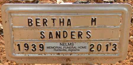 SANDERS, BERTHA M - Madison County, Alabama   BERTHA M SANDERS - Alabama Gravestone Photos