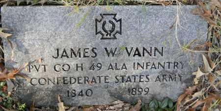 VANN (VETERAN CSA), JAMES W - Madison County, Alabama | JAMES W VANN (VETERAN CSA) - Alabama Gravestone Photos